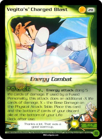 28 - Vegito's Charged Blast Limited Foil