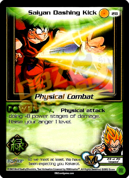 28 - Saiyan Dashing Kick Limited Foil