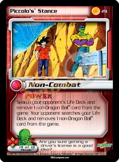 29 - Piccolo's Stance Unlimited Foil