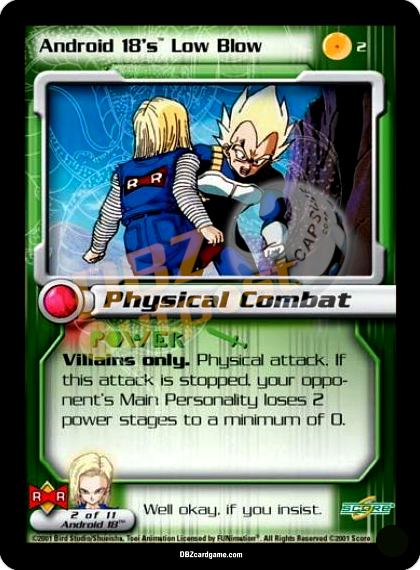 2 - Android 18's Low Blow Unlimited Foil