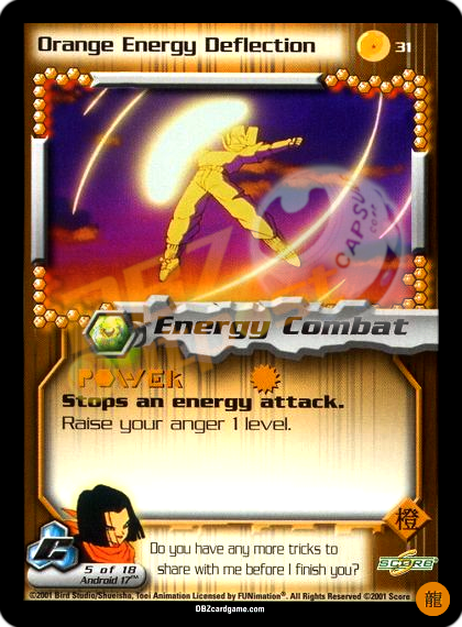 31 - Orange Energy Deflection Limited Foil