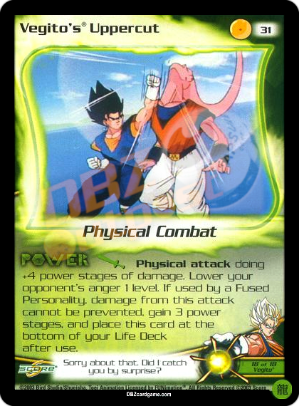 31 - Vegito's Uppercut Limited Foil