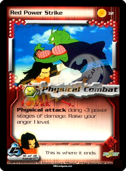 32 - Red Power Strike Unlimited Foil