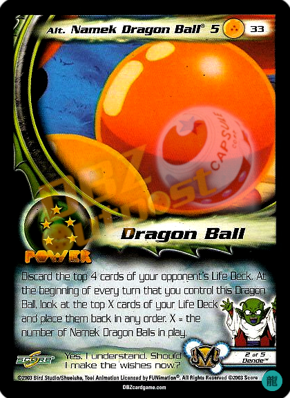 33 - Alt Namek Dragon Ball® 5 Limited Foil