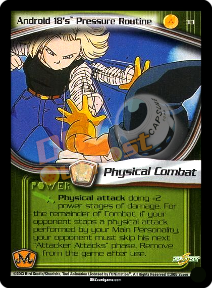 33 - Android 18's Pressure Routine Unlimited Foil