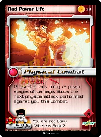 33 - Red Power Lift Unlimited Foil