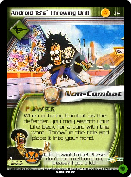 34 - Android 18's Throwing Drill Limited Foil
