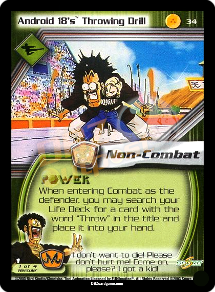 34 - Android 18's Throwing Drill Unlimited Foil