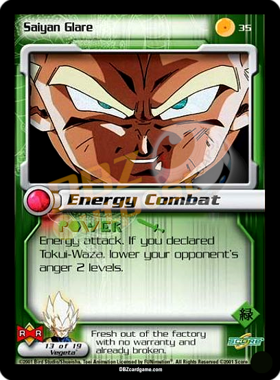 35 - Saiyan Glare Unlimited Foil