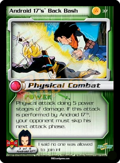 37 - Android 17's Back Bash Unlimited Foil