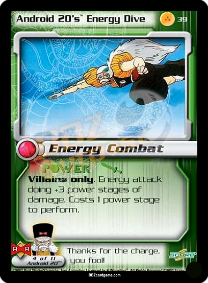 39 - Android 20's Energy Dive Unlimited Foil