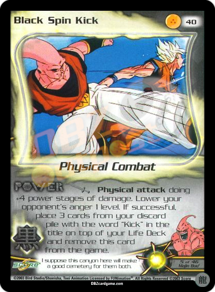 40 - Black Spin Kick Limited Foil