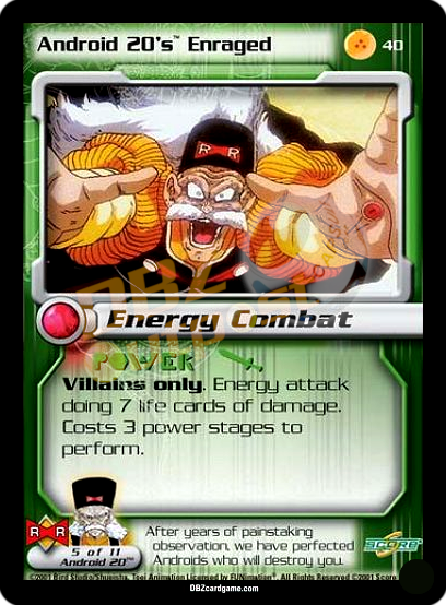40 - Android 20's Enraged Unlimited Foil