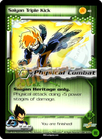 41 - Saiyan Triple Kick Limited Foil