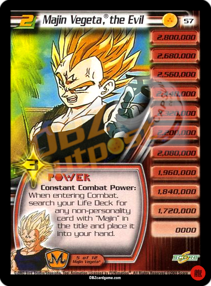 57 - Majin Vegeta®, the Evil LV2 Limited