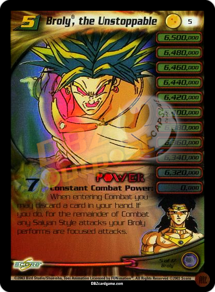 5 - Broly, the Unstoppable LV5