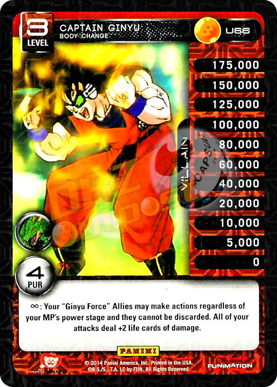 U66 Captain Ginyu, Body Change Foil