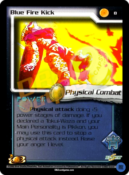 8 - Blue Fire Kick Limited Foil