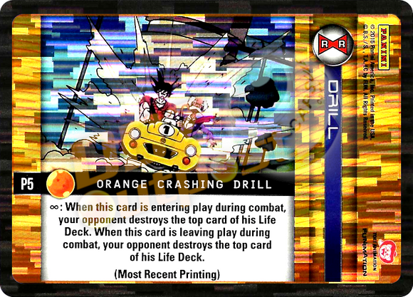 P5 Orange Crashing Drill