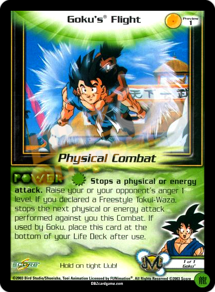 Preview 1 - Goku's® Flight Limited Foil