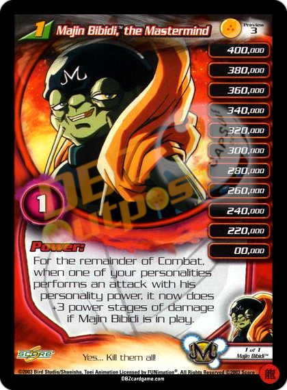Preview 3 - Majin Bibidi, the Mastermind LV1 Limited