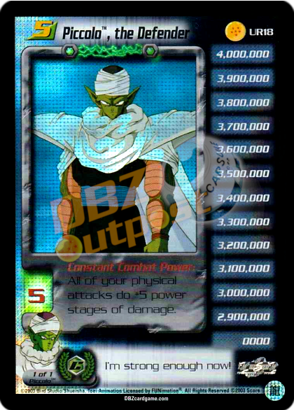 UR18 - Piccolo, the Defender LV5