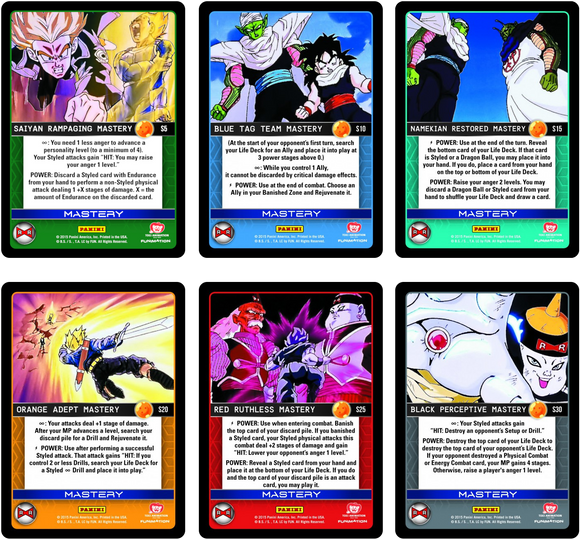 Set of All 6 Hi-Tech Mastery Cards (Evolution)