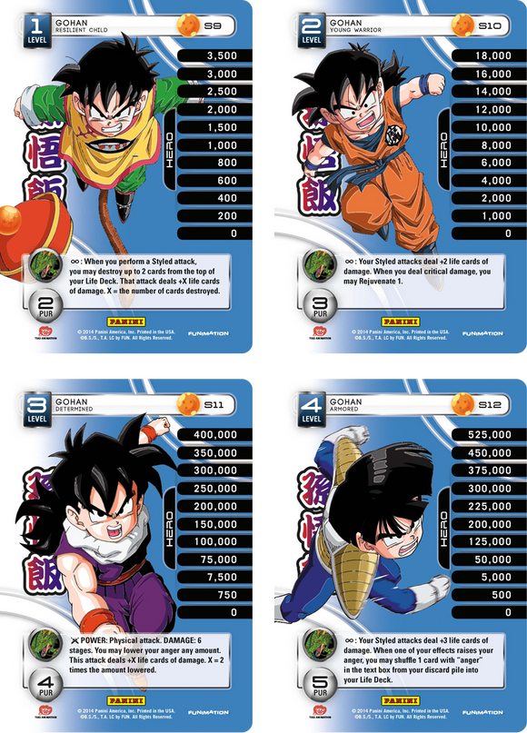 Gohan Level 1-4 Hi-Tech Main Personality Set (Premiere)