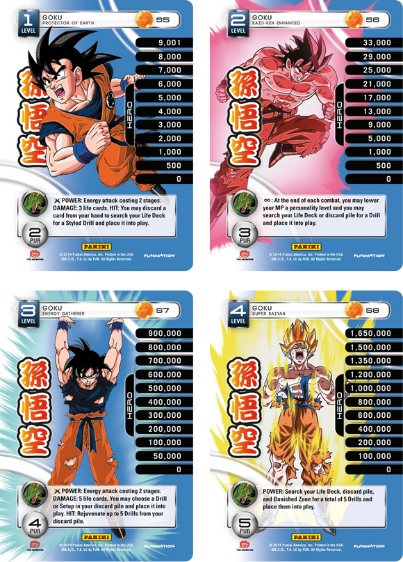 Goku Level 1-4 Hi-Tech Main Personality Set (Premiere)