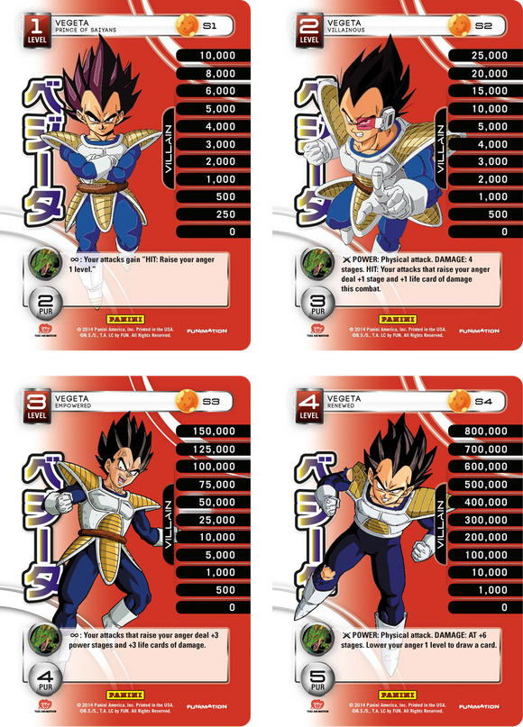 Vegeta Level 1-4 Hi-Tech Main Personality Set (Premiere)