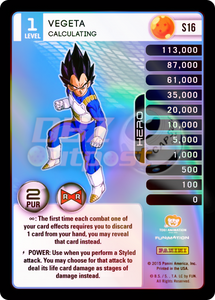 S16 Vegeta, Calculating Hi-Tech Rainbow Prizm