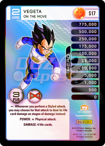 S17 Vegeta, On The Move Hi-Tech Rainbow Prizm
