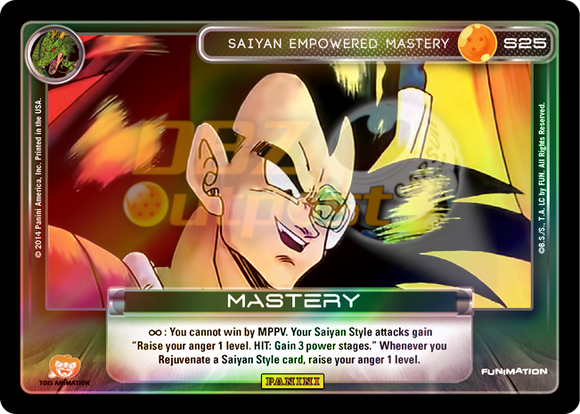 S25 Saiyan Empowered Mastery Hi-Tech Rainbow Prizm