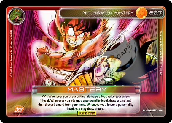 S27 Red Enraged Mastery Hi-Tech Rainbow Prizm