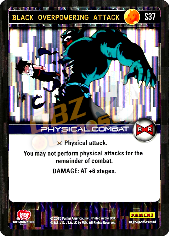 S37 Black Overpowering Attack Foil