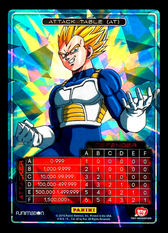 Awakening Attack Table Vegeta Foil