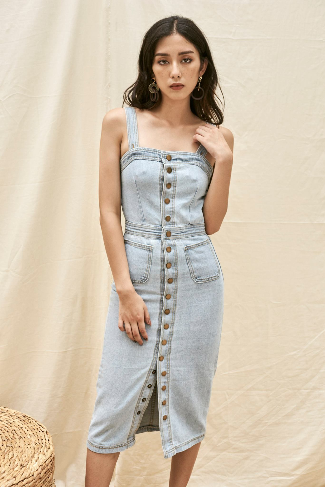 Denim Pencil Dress