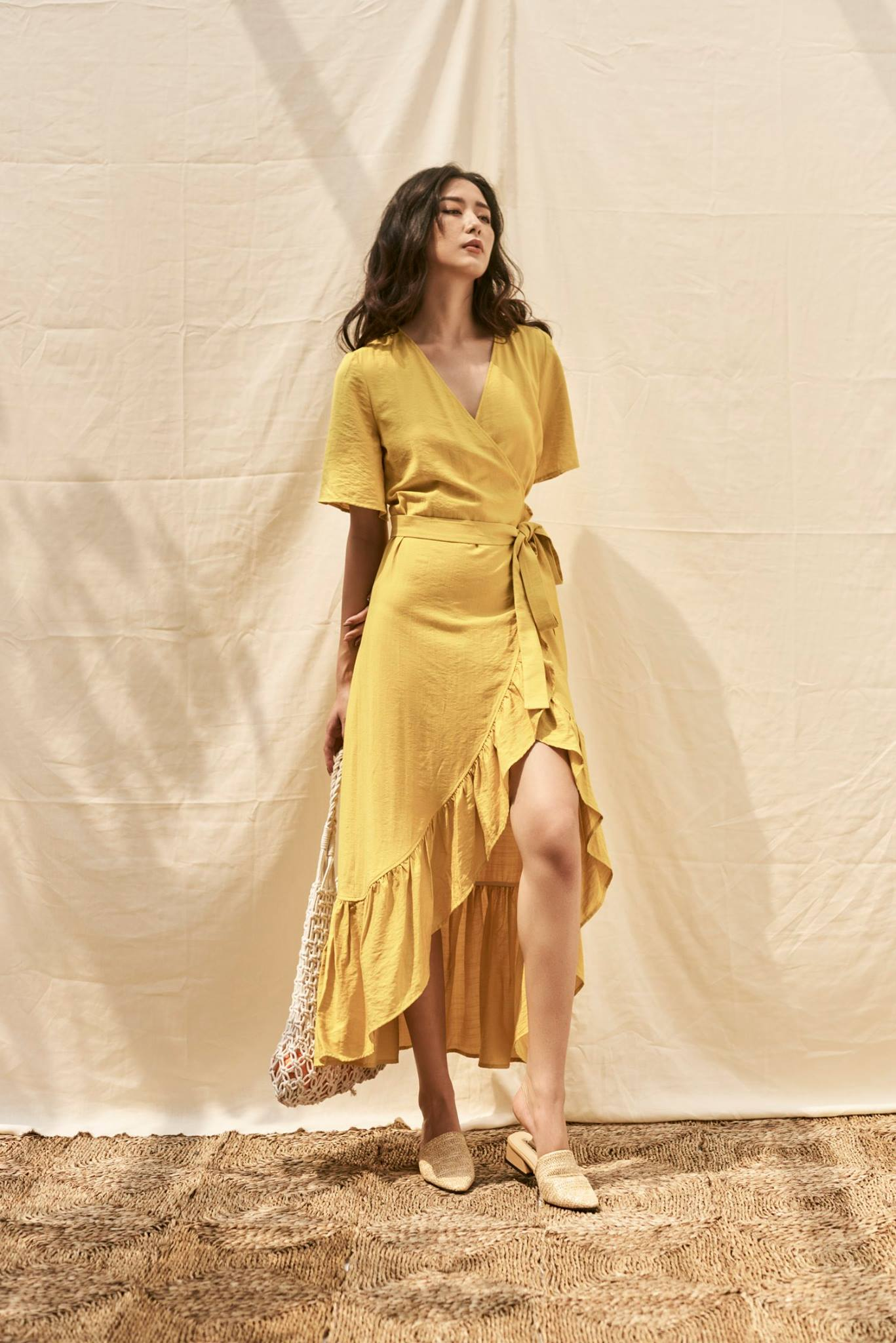 Yellow Ruffle Maxi