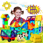 Magnetic Building Tiles Toys Set - 60 Pieces