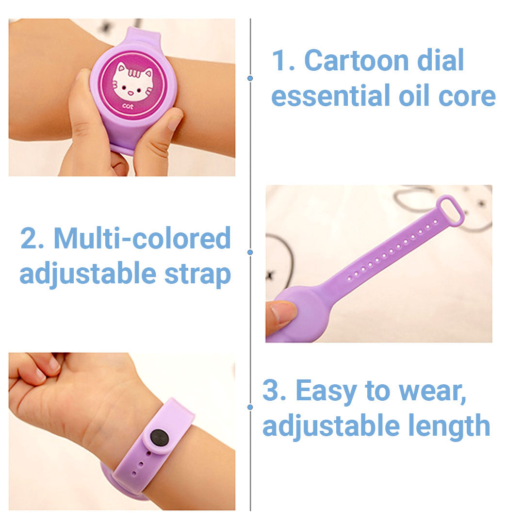 Moskid Silicone Mosquito Repellent Bracelet for Kids - Natural Essential Oil Safe and Long Lasting Protection