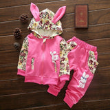 2-Piece Set - Hoody Rabbit & Pants Together - Children Baby Clothing Rose / 6M - Serene Parents