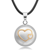 Bola Pregnancy Necklace - Ball and Heart Bola Pregnancy Necklace - Maternity Pendant 30 in (80 cm) - Serene Parents