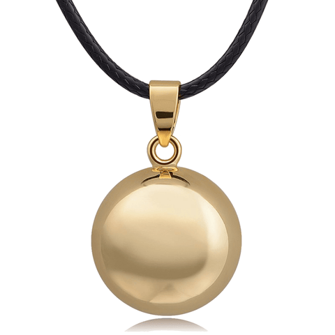 Bola Pregnancy Necklace - Ball - Gold Bola Pregnancy Necklace - Maternity Pendant 30 in (80 cm) - Serene Parents