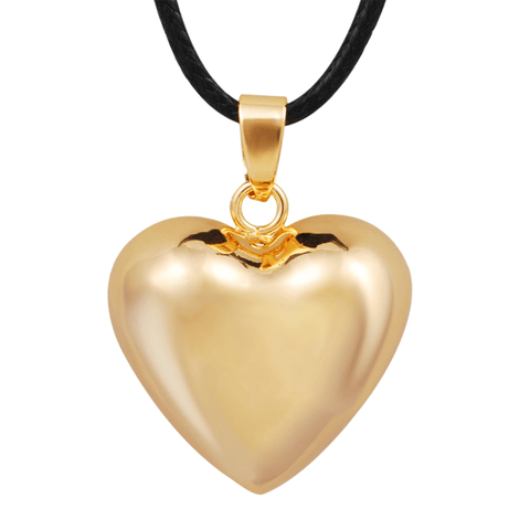 Bola Pregnancy Necklace - Heart - Gold Bola Pregnancy Necklace - Maternity Pendant 30 in (80 cm) - Serene Parents