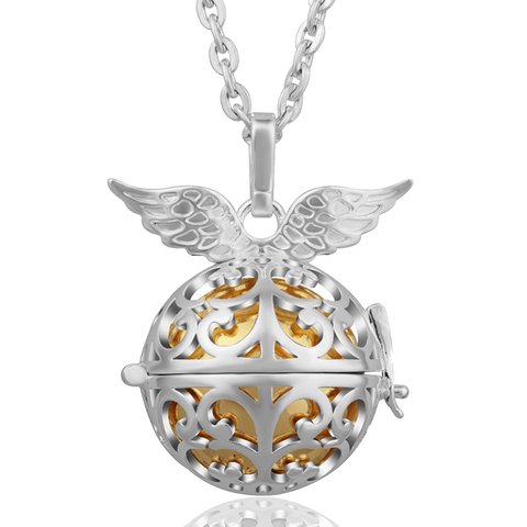 Bola Pregnancy Necklace - Hermes Bola Pregnancy Necklace - Maternity Pendant Orange / 30 in (80 cm) - Serene Parents