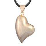 Bola Pregnancy Necklace - Stretched Heart - Gold Bola Pregnancy Necklace - Maternity Pendant 30 in (80 cm) - Serene Parents