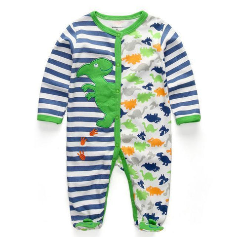 Dinosaur One Piece Jumpsuit Pajamas - Combination - Kids Clothing 12M - Serene Parents