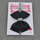 Elastic Bowtie Headband Kids Accessories Black / Unique size - Serene Parents