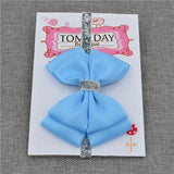 Elastic Bowtie Headband Kids Accessories Blue / Unique size - Serene Parents