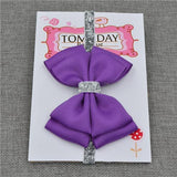 Elastic Bowtie Headband Kids Accessories Bright purple / Unique size - Serene Parents